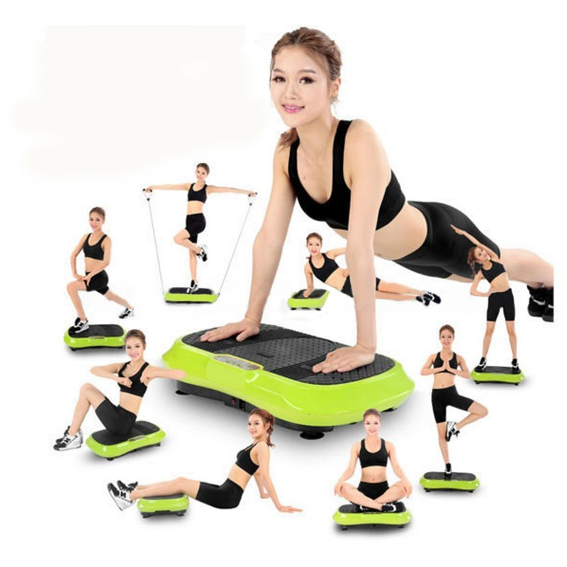 FitnessWise Vibration Plate Exercise Machine Green